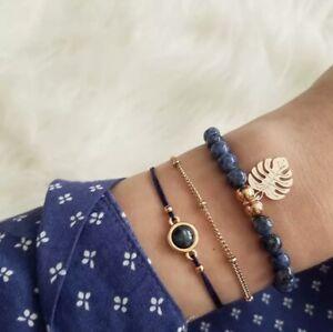 Women Girls Boho Bracelet Multilayer Bead Heart Om Cuff Ladies Jewellery UK