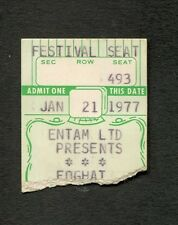 Original 1977 Foghat concert ticket stub Fool For The City