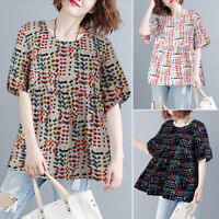 Women's Summer T-Shirt Shirt Tops Loose Oversize Short Sleeve Tee Shirt Blouse