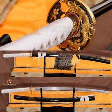 Sharp Katana FullTang Hanmade Japanese Samurai Sword Damascus Folded Steel Blade