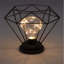 Vintage Diamond Shape Cage Lampshade Industrial Retro Metal Bird Cage Bulb Guard