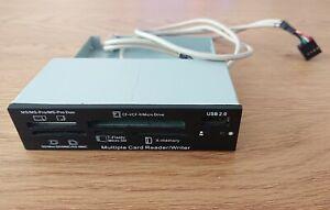 Lecteur cartes SD, micro SD, USB, CF, MS pour ordinateur type tour