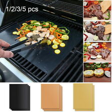 5PCS Non-stick BBQ Grill Mat Baking Pad Teflon Cooking Plate Barbecue Party Tool