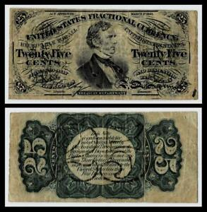 1863  25c Fractional Currency Third Issue~VERY FINE