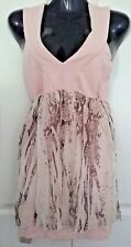 SIZE 8 WOMEN'S PALE PINK SLEEVELESS 'IIKOY'  BODYCON CROSS BACK DRESS