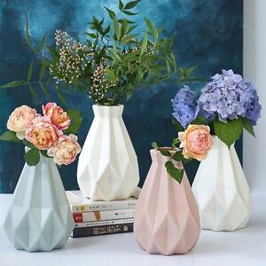Flower Vase Decor Plastic Vase Imitation Ceramic Flower Pot Flower Basket NY*AU