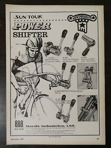 Vintage 1971 Sun Tour Bicycle Power Shifter Maeda Ind Full Page Original Ad