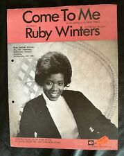 Ruby Winters - 'Come To Me' - 1970's Vintage Original Sheet Music Score!