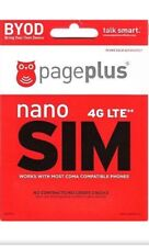 Page Plus 3 in one 4G LTE Sim Card + $40 Plan Month 8GB 4G LTE DATA