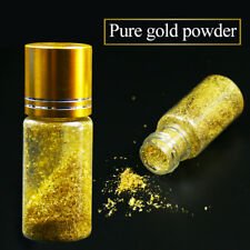 One bottle 24K Real gold powder, small flakes of genuine gold leaf, edible
