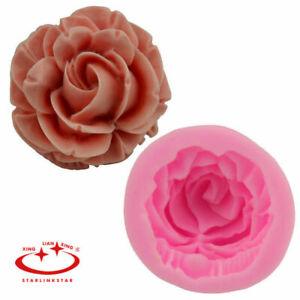 Silicone  DIY Fondant Decorating Baking Tool Big Rose Flower Cake Mold Flexible