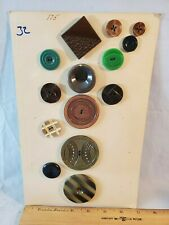 Card No. 32 Vintage Antique Buttons Plastic NO Reserve