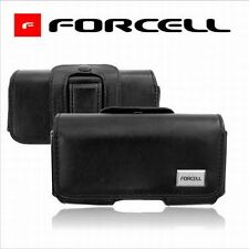 FUNDA CINTURON para IPHONE 6 / 7 / 8  -  MARCA FORCELL -  PIEL NEGRA