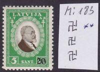 LATVIA 1931 Mi 183 Inverted watermark MNH OG