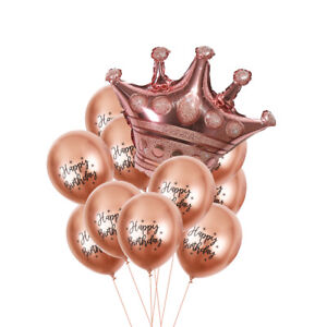 "12"" Latex Sequined Balloon Crown Foil Balloon Birthday Wedding Party Decor 2021"