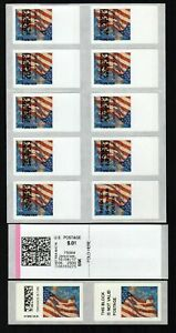 APC / SSK / CVP / ATM - USA #CVP91 Inverted Flag stamp ERROR - full sheet of 9+1