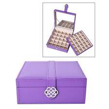Symphony Home Purple Legacy 2 Tier Anti Tarnish Jewelry Organizer Box Storage