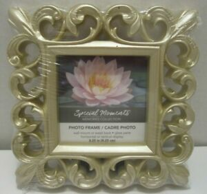 "3X3"" Gold Fleur De Lis Decorative Frame Tabletop Or Wall Hang"