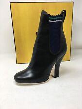 $1050 New FENDI Womens Black Boots Shoes  Heels Ladies Size 6 36