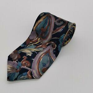 Vintage Men's Tie Jonelle 100% Silk Made in England - Multicoloured Abstract