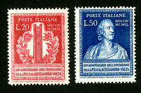 Italy Stamps # 526-7 F-VF OG NH Set of 2 Scott Value $97.50