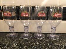 4x Stella Artois Acrylic Plastic Pint Glasses Ce Stamped Pub Shed Bar Man Cave