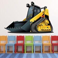Gele Graafmachine Kinderen Muursticker WS-50582