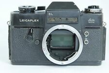 LEICAFLEX SL BLACK GERMAN LEITZ BODY FOR LEICA R LENS FOR PARTS