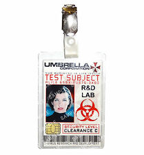 Resident Evil Umbrella Corp Test Subject Alice Cosplay Comic Con Halloween