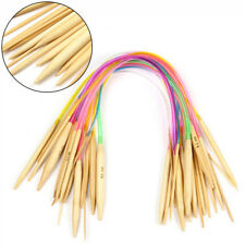 18 Sizes Multicolor Circular Bamboo Knitting Needles Set Colored Tube 2.0-10.0mm