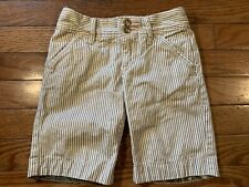 Old Navy Striped Bermuda Shorts Girls Size 5