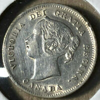 1899 Canada 5 Cents Silver Coin AU/UNC Condition