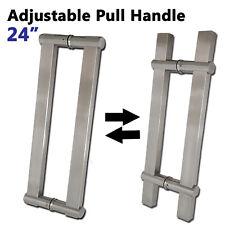 "Pair Of Adjustable Modern Stainless Steel Entrance Front Door Pull Handles 24"""