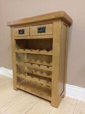 Kingsford Oak Small Wine Cabinet Rack Solid Wood Storage Unit Stand