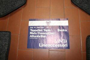 KIT SERIE TAPPETI  LANCIA DEDRA ORIGINALI GRIGI COD. 5897285