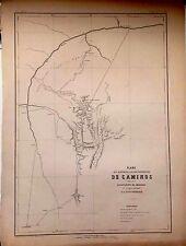 PERÚ,plano de los caminos...Amazonas.Paz Soldán.Geografía del Perú 1865.