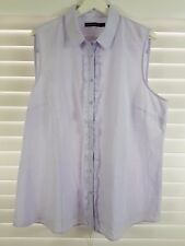 SPORTSCRAFT sz 18 womens sleeveless Shirt / Top w/ frills [#497]