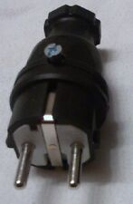 Schukostecker 220V Gummi-Schuko-Stecker IP44 schwarz