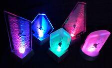 Farbwechsel Lichteffekt Lichteffektuhr Kaminuhr Design Tischuhr LED beleuchtet