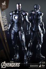 Hot Toys The Avengers Mark 7 VII Stealth Mode MMS 282 AOU Working Electronics