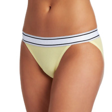 Jockey Retro Stripe String Bikini 2252 2-Pack, Yellow & Gray