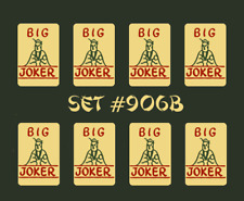 Mah Jongg Jong Mahjong Natural Big Joker Stickers - Set #906b **Free Shipping **