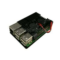 Black Dual Fan Version for Raspberry Pi Armor Case for Raspberry Pi 3B/3B+