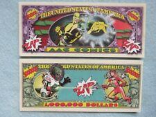 4 Bills: AAC = Action Avenger Comics ~ ZAP! ~ Fun $1,000,000 One Million Dollars