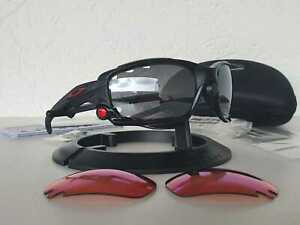 Oakley Racing Jacket occhiale da sole Frame Matte Black/Black Irid+Prizm Trial