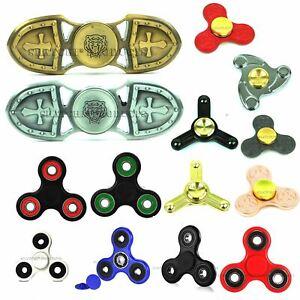 Metal Fidget Finger Spinner Hand Focus EDC Bearing Stress Kids Pocket Toys