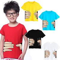 Summer T-Shirt Kids Boys Tee Cotton 3D Short Sleeve Shirts Tops Blouse 2-8 Years