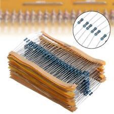 600 Pcs 30 Values 14w 1 Metal Film Resistors Resistance Assortment Kits New