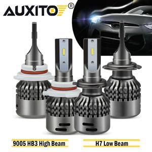 4x 9005+H7 Combo csp LED Headlight Bulb Kits High Low Lamp Bulb 6000K 18000LM