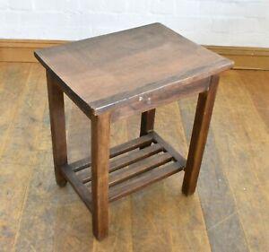 Antique vintage wooden work stool - cracket